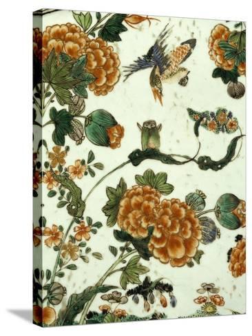 Floral Decoration, Decoration of a Famille Verte--Stretched Canvas Print