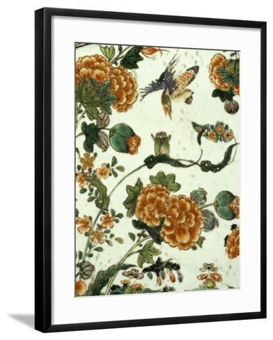Floral Decoration, Decoration of a Famille Verte--Framed Art Print