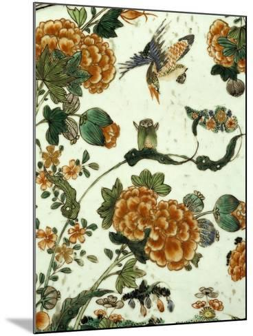 Floral Decoration, Decoration of a Famille Verte--Mounted Giclee Print