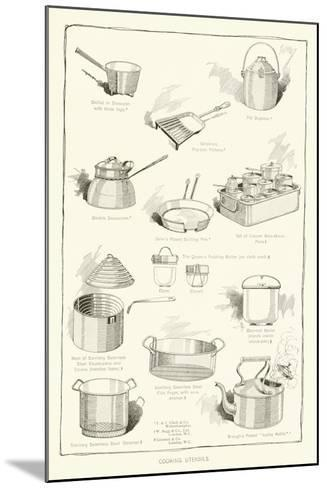 Cooking Utensils--Mounted Giclee Print