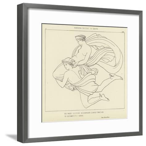 Pandora Brought to Earth-John Flaxman-Framed Art Print
