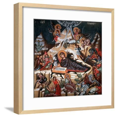 Nativity, 1494-Philippos Goul-Framed Art Print