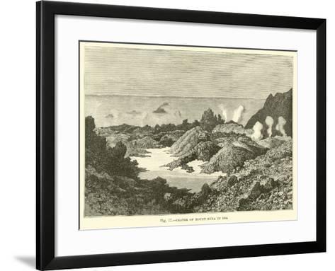 Crater of Mount Etna in 1834--Framed Art Print