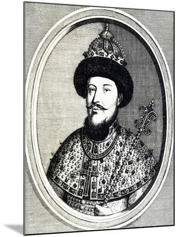 Portrait of Alexei Mikhailovich Romanov--Mounted Giclee Print