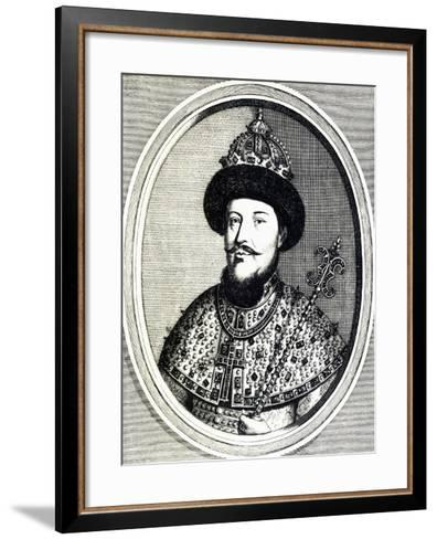 Portrait of Alexei Mikhailovich Romanov--Framed Art Print
