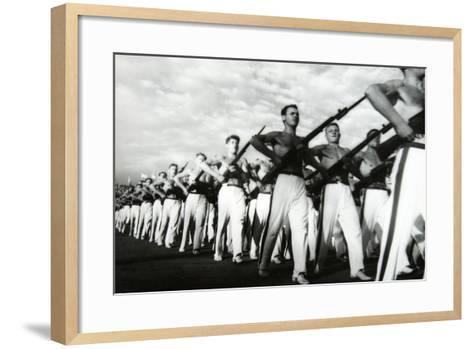 Parade of the Young Communists, Moscow--Framed Art Print
