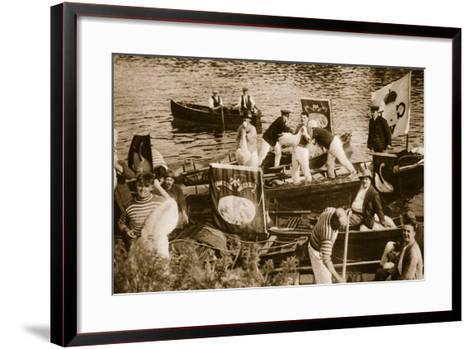 Swan Upping on the Thames--Framed Art Print