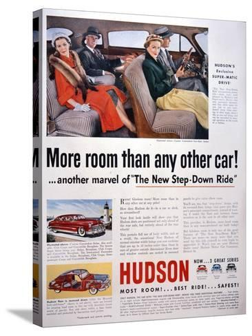 Advertisement for Hudson Cars, 1950--Stretched Canvas Print