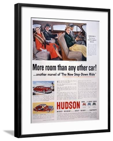Advertisement for Hudson Cars, 1950--Framed Art Print