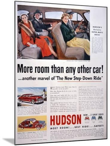 Advertisement for Hudson Cars, 1950--Mounted Giclee Print