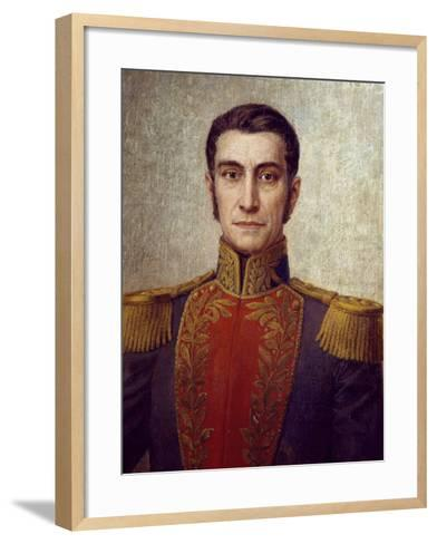 Portrait of Rafael Urdaneta--Framed Art Print