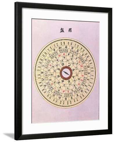 Geomantic Compass, C.1900--Framed Art Print
