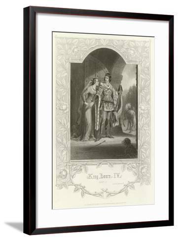 King Henry Iv, Part I, Act Ii, Scene III-Joseph Kenny Meadows-Framed Art Print
