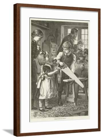 """Please Mend My Dolly""--Framed Art Print"