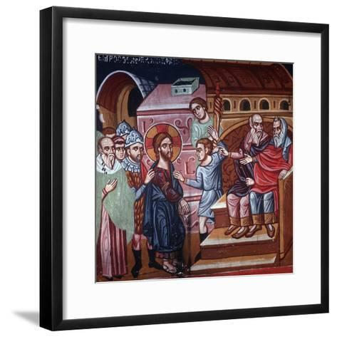 Jesus before the High Priest, 1494-Philippos Goul-Framed Art Print