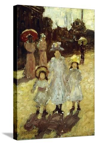Sunday Morning in Paris, C.1892-1894-Maurice Brazil Prendergast-Stretched Canvas Print