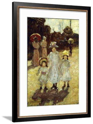 Sunday Morning in Paris, C.1892-1894-Maurice Brazil Prendergast-Framed Art Print