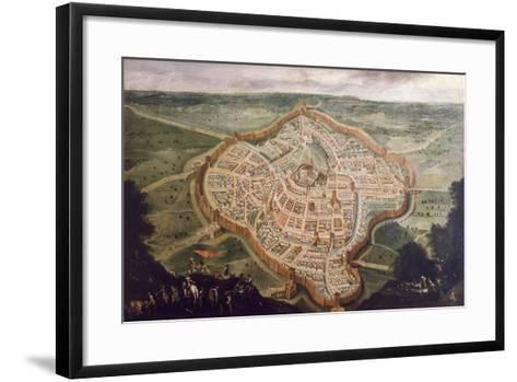 Perspective Map of Udine-Luca Carlevaris-Framed Art Print
