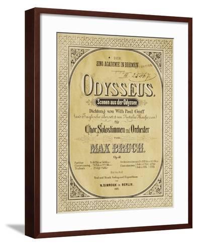Frontispiece of Odysseus-Max Bruch-Framed Art Print