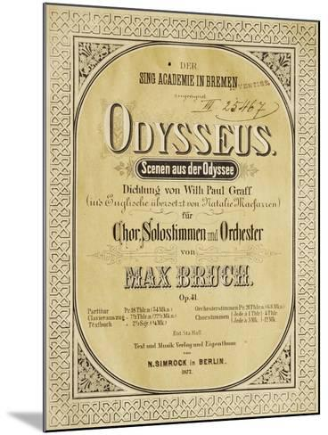 Frontispiece of Odysseus-Max Bruch-Mounted Giclee Print
