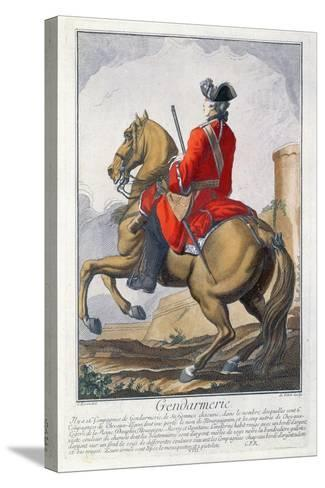 Gendarme Mounted on a Horse-Charles Joseph Dominique Eisen-Stretched Canvas Print