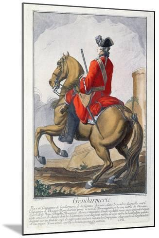 Gendarme Mounted on a Horse-Charles Joseph Dominique Eisen-Mounted Giclee Print