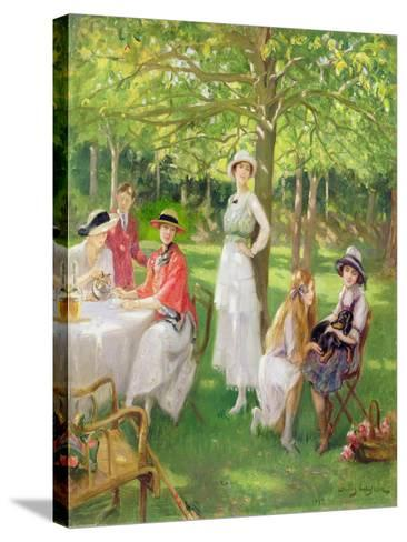 Tea in the Garden-Jules Cayron-Stretched Canvas Print