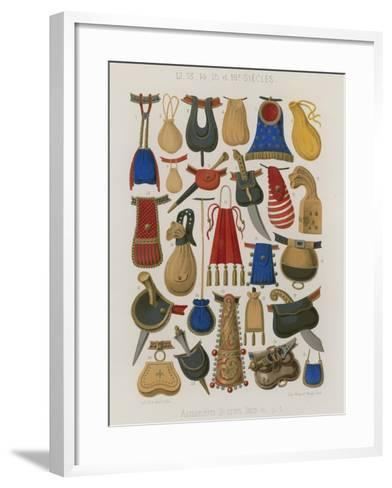Purses, Pouches and Bags--Framed Art Print