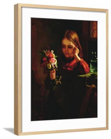 Girl with Flowers-John Davidson-Framed Art Print