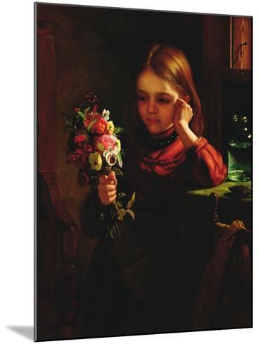 Girl with Flowers-John Davidson-Mounted Giclee Print