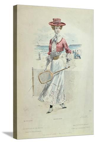 Tennis Outfit, from 'La Revue De La Mode', 1900--Stretched Canvas Print