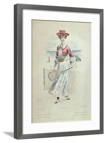 Tennis Outfit, from 'La Revue De La Mode', 1900--Framed Art Print
