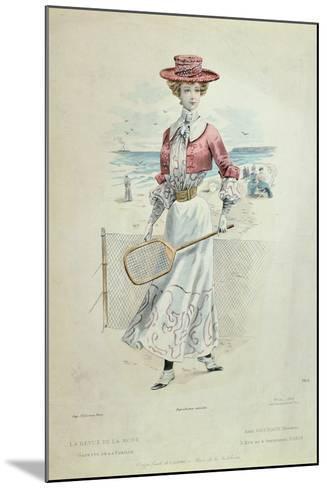 Tennis Outfit, from 'La Revue De La Mode', 1900--Mounted Giclee Print