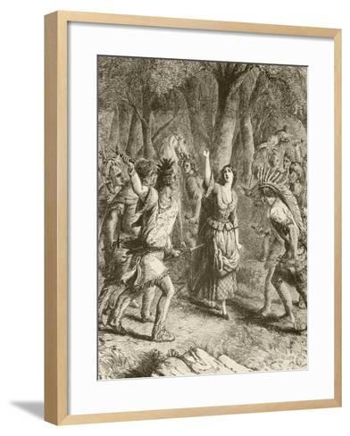 The Abduction of Jennie--Framed Art Print