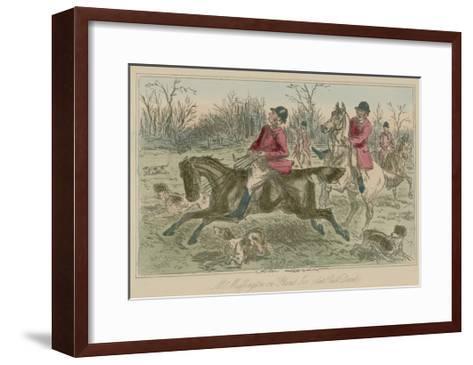 """Mr Muffington on """"Placid Joe"""" Late Pull Devil-John Leech-Framed Art Print"""