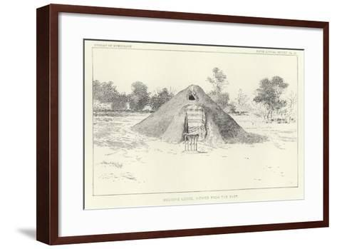 Medicine Lodge Viewed from the East--Framed Art Print