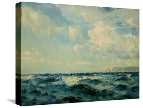 A Breezy Day Off the Isle of Wight, 1890-Henry Moore-Stretched Canvas Print