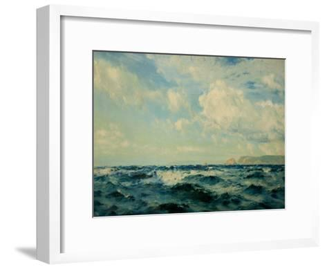 A Breezy Day Off the Isle of Wight, 1890-Henry Moore-Framed Art Print