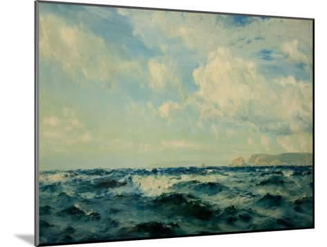 A Breezy Day Off the Isle of Wight, 1890-Henry Moore-Mounted Giclee Print