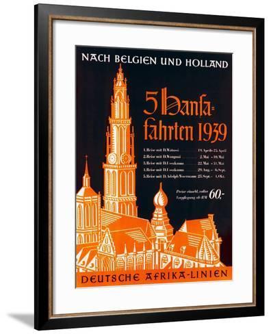 Poster Advertising the German Africa Lines, 1939--Framed Art Print