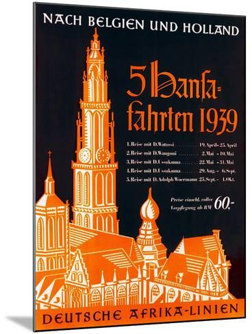 Poster Advertising the German Africa Lines, 1939--Mounted Giclee Print