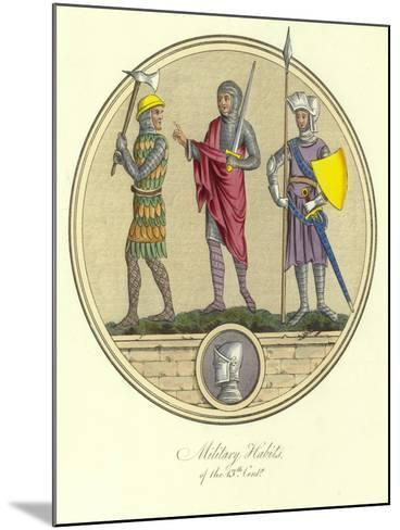 Military Habits of the 13th Century--Mounted Giclee Print
