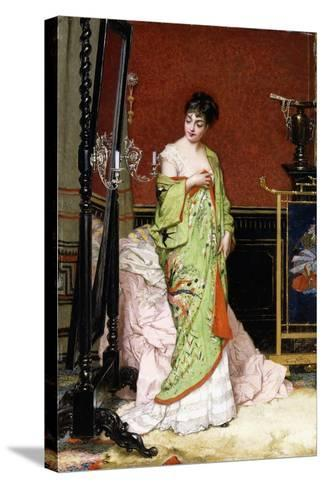 The Green Kimono, 1876-Frans Verhas-Stretched Canvas Print