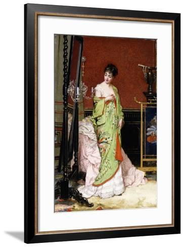 The Green Kimono, 1876-Frans Verhas-Framed Art Print