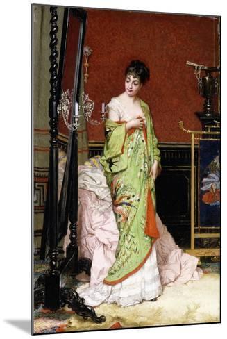 The Green Kimono, 1876-Frans Verhas-Mounted Giclee Print