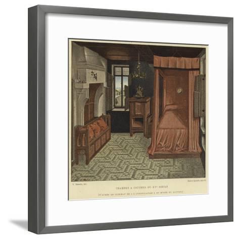 Bedchamber, 15th Century--Framed Art Print