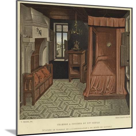 Bedchamber, 15th Century--Mounted Giclee Print