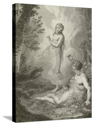 Scene from Paradise Lost, by John Milton--Stretched Canvas Print