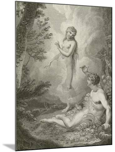 Scene from Paradise Lost, by John Milton--Mounted Giclee Print