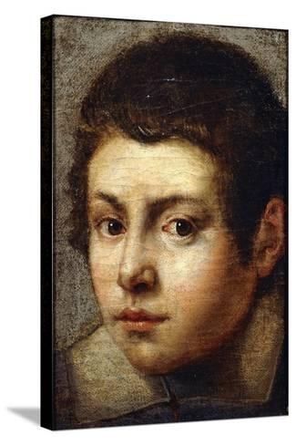 The Head of a Young Boy--Stretched Canvas Print